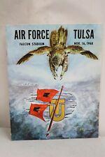 1968 College Football Program Air Force  Falcons VS Tulsa Golden Hurricane