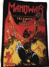 MANOWAR 'TRIUMPH OF STEEL'  vintage  sew on woven patch