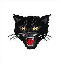 "10.75"" GIANT Black Cat Iron-on Back Patch Rockabilly Horror tattoo PUNK Biker US"