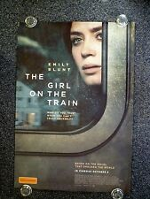 THE GIRL ON THE TRAIN Original 2010s Advance One Sheet Movie Poster Emily Blunt