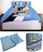 Manchester City FC Double Duvet Bedding Fleece Blanket & Towel Official Man city
