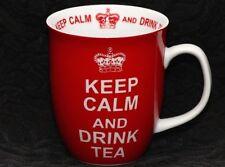 CREATIVE TOPS KEEP CALM And DRINK TEA RED Porcelain Mug