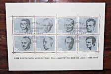 "FRANCOBOLLI GERMANIA 1964 ""PERSONAGGI STORICI NAZISMO"" USED BLOCK (CAT.J)"