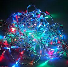 72 LED Lichterkette 6 m MULTICOLOR transp. 230V