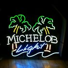 Michelob Light Double Palm Tree Neon Sign USA Commerical w/Dimmers Man Cave