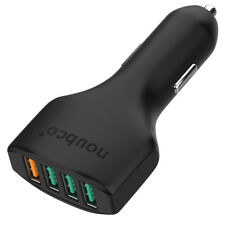 Noubco 54W 4 Port Car Charger with Quick Charge 3.0   Qualcomm Certified
