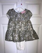 Wonder Kids Girls 2 Piece Set Sequin Dress and Leggings Pants 4T NWT