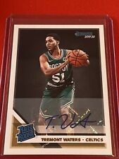 19-20 Donruss Tremont Waters Rc #244 Rated Rookies Signature