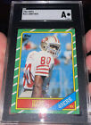 GRADED 1986 Topps #161 Jerry Rice SGC Authentic ROOKIE San Francisco 49ers RC