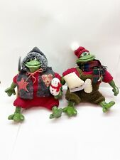 NWT RUSS Country Folks SCOOP & BLADE Frog figures CHRISTMAS COUNTRY FOLKS NOS