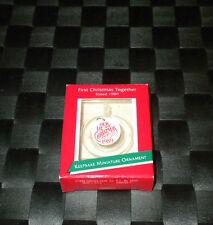 "1989 Hallmark Keepsake Miniature Ceramic Ornament ""First Christmas Together"""