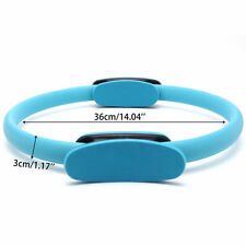 Blue Pilates Resistance Ring Circle Gymnastics Yoga Aerobic Double Handle