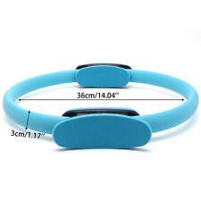 Blue Pilates Resistance Ring Circle Gymnastics Yoga Aerobic Double Handle