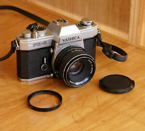 Yashica FX-2 35mm Film SLR w/ 50mm f/1.9 Lens Good Condition
