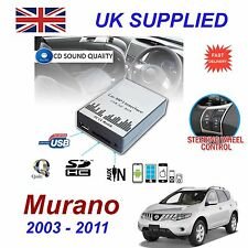 Para Nissan MURANO MP3 SD USB CD AUX entrada adaptador de Audio Módulo de cambiador de CD