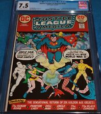 JUSTICE LEAGUE #103 CGC 7.5 1ST FREEDOM FIGHTERS IN SILVER-AGE! UNDERGRADE. 8.5!