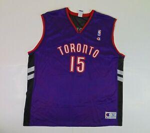 VTG 90s Champion Men 2XL 52 Vince Carter Jersey Toronto Raptors Purple Black NBA