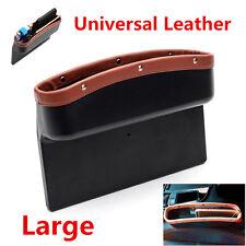 1x PU Leather Large Catch Catcher Box Caddy Car Seat Gap Slit Pocket Storage