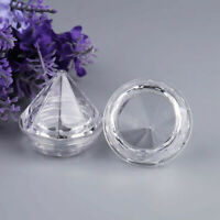 10/30/50x Empty Plastic Diamond Shape Pot Jars Cosmetic Sample Travel Containers