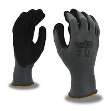 Industrial Gloves Cordova Cor Touch Sand Grip Nylon Shell Size Large 12 Pairs