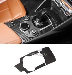 ABS Carbon Fiber Center Console Panel Cover Trim For Alfa Romeo Giulia 2017-2019