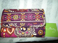 Brand New Womens Purple Safari Sunset Vera Bradley Euro Wallet