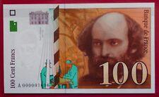100 FRANCS CÉZANNE 1997 NEUF  -  LETTRE A -  TRÈS RARE !