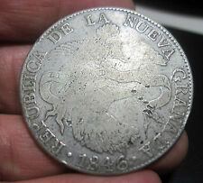 1846 RS (COLOMBIA) 8 REALES (SILVER) REPUBLIC of NUEVA GRANADA --SCARCE---