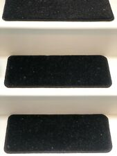 14x Carpet Stair Case Treads Stain Free glitter black Pads 14 Large Pads