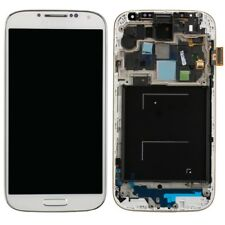 GLS DISPLAY+TOUCH SCREEN+FRAME COVER PER SAMSUNG GALAXY S4 GT i9515+TASTO BIANCO