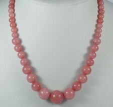 6-14mm Exquisite Pink Rhodochrosite Round Bead Gemstone Jewelry Necklace