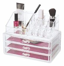 Acrylic Deluxe Cosmetic Make Up Organiser with Drawers, 16 Compartments