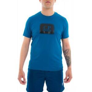 C.P. COMPANY Mens Big Patch Logo T-Shirt (Blue)