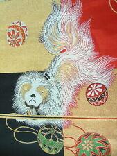 [AYANE] CHIN DOG (last one) - Japanese vintage/antique Obi Fabric