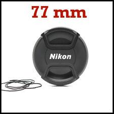 TAPA DELANTERA OBJETIVO 77mm NIKON CON PINZA CENTRAL, REFLEX DSLR