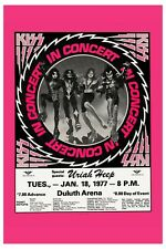 KISS & Uriah Heep at Deluth Arena Concert Poster 1977 13x19