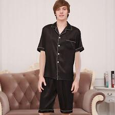 Women Men Silk Satin Pajamas Pyjama Sets Sleepwear Nightwear Shorts Homewear Set