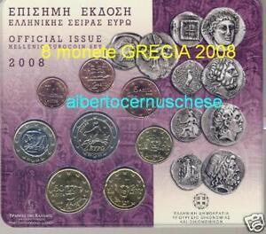2008 Div 8 monete EURO Grecia greece grece griechenland