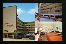 New Jersey NJ postcard Catalina Motel, Atlantic City Multi view interior pool