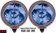"Pair of Britax 7"" driving spot lamps/lights blue lens L27.01 off road 4x4 truck"