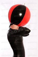 100% Latex Rubber Gummi Maske Hood Aufblasbar 0,45mm Catsuit Ganzanzug Kostüm