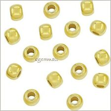 30x Gold Plated Sterling Silver Seamless Round Spacer Crimp Beads 2.5mm #51887