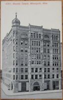 1910 Postcard: Masonic Temple-Minneapolis, Minnesota MN