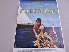 alain delon PLEIN SOLEIL ! affiche cinema ; bateau voilier