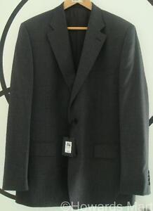 """New Mens Jaeger Wool Pinstripe Suit Jacket 42R Grey Lilac Stripe 42"""" RRP £300"""