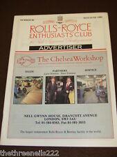 ROLLS ROYCE ENTHUSIASTS CLUB ADVERTISER #86 - MAY 1989