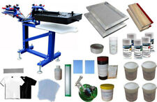 Micro Adjust 3 Color Screen Printing Kit Press Printer With Flash Dryer Material