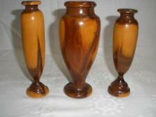 STUNNING POLISHED MULGA WOOD DESK PEN HOLDERS X 3 MULGA CENTRAL AUSTRALIA