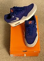 Nike Air Max 1 Premium Mens Size 9.5 VINTAGE 2012 Royal Blue / Grey RARE
