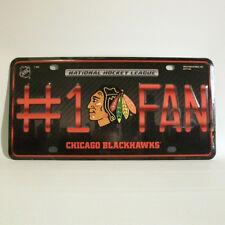 Chicago Blackhawks Nummernschild / Blechschild - 30 x 15 cm - NHL Eishockey